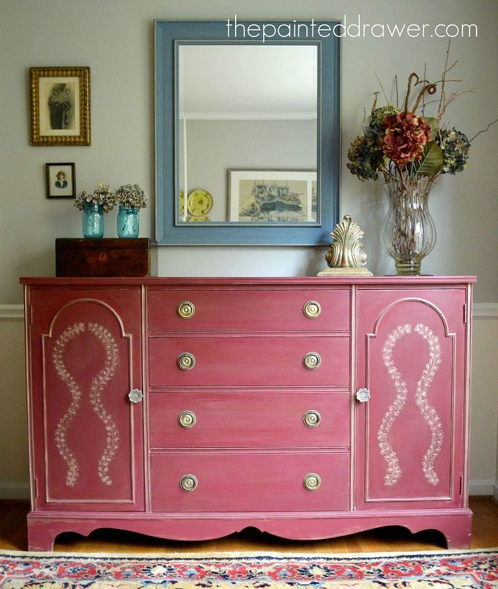 Buffet Makeover With Annie Sloan Primer Red