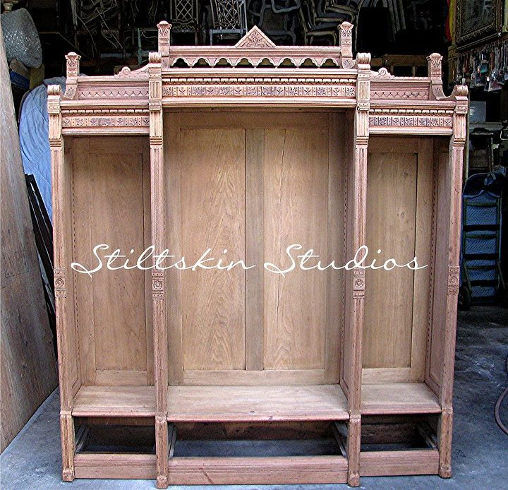 Antique Eastlake Bookcase Restoration Painted Furniture