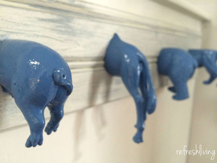how to make animal hooks out of old kids toys, painting, repurposing upcycling, shelving ideas