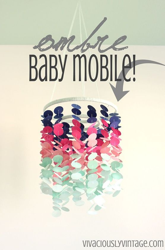 How To Make An Ombre Baby Mobile Hometalk