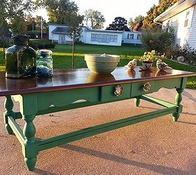 thrift store table makeover chalk paint diy painted furniture woodworking projects