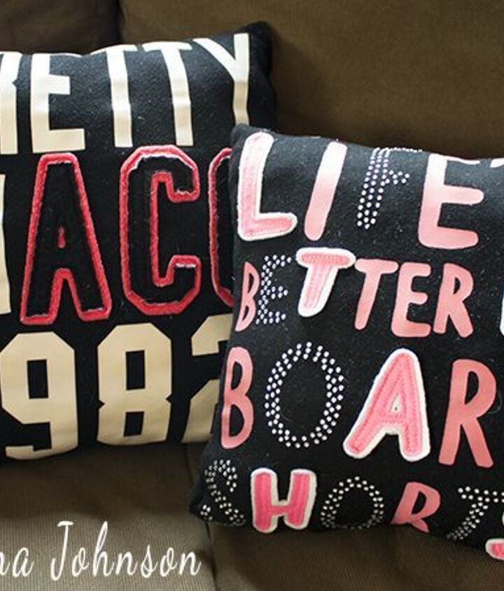how to make a t shirt pillow, home decor, repurposing upcycling, reupholster