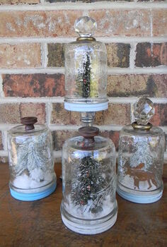 how to make mason jar snow globes, crafts, mason jars, repurposing upcycling, seasonal holiday decor