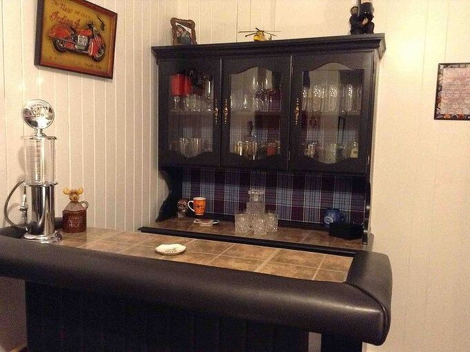 turning a china cabinet into a home bar, entertainment rec rooms, painted furniture, repurposing upcycling