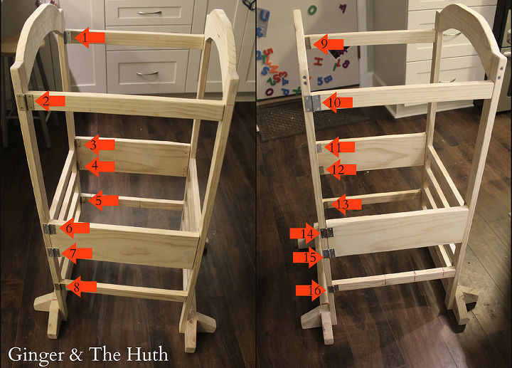 ana whites little helper tower, diy, woodworking projects
