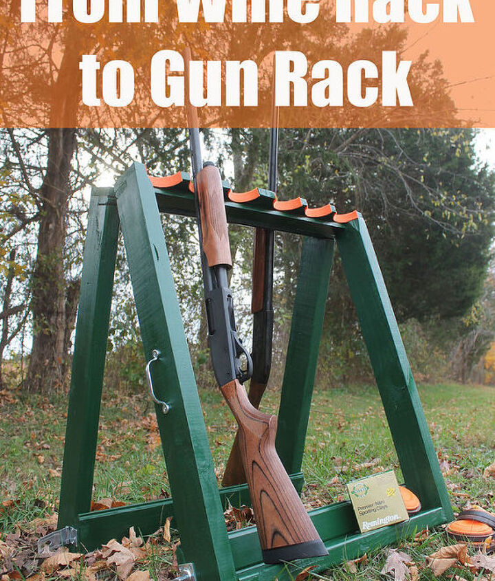how to turn a wine rack into a standing gun rack, diy, how to, painted furniture, repurposing upcycling, woodworking projects