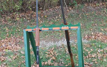 Turn a Wine Rack Into a Standing Gun Rack