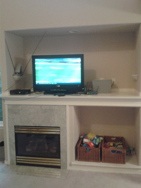 huge mantle alcove storage ideas, fireplaces mantels, home decor, storage ideas