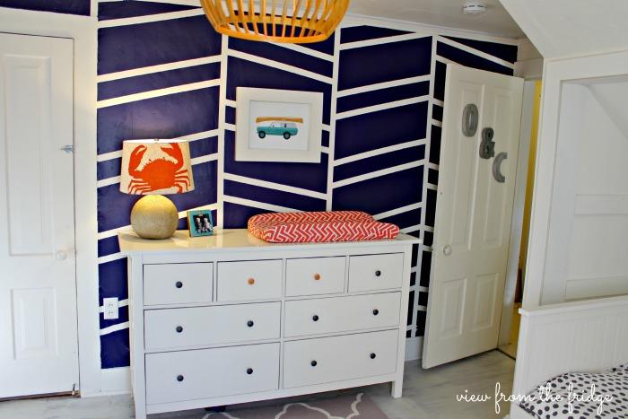 Shared Boys Geometrical Bedroom: Shared Boys' Room Bedroom Makeover Ideas