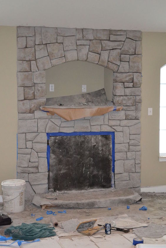 carved concrete fireplace redo tips, concrete masonry, diy, fireplaces mantels