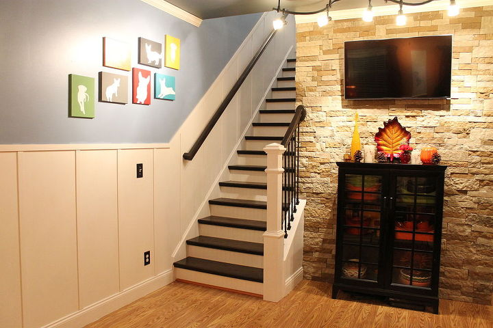 View of living room and staircase