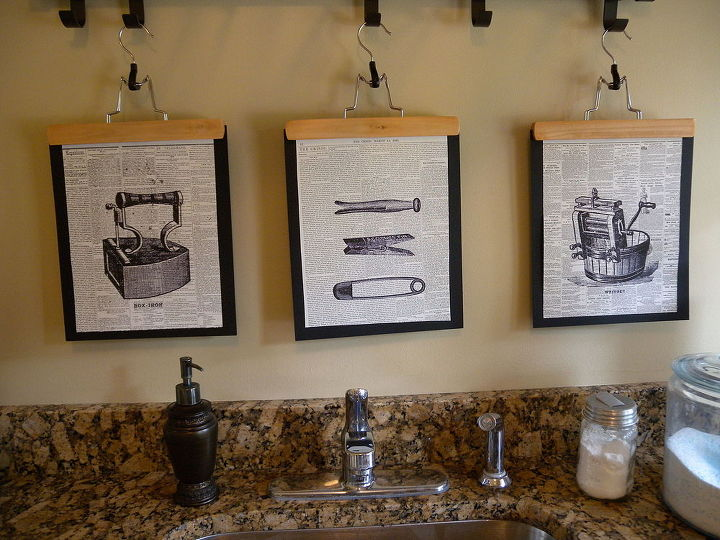 How To Make Graphic Laundry Room Art Crafts Rooms Wall Decor