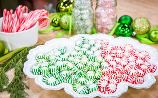 how to make peppermint plates, christmas decorations, crafts, seasonal holiday decor