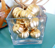 pottery barn knock off gold pumpkin vase, crafts, seasonal holiday decor, thanksgiving decorations