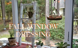 chippy ladder herb display for fall, gardening, seasonal holiday decor, windows
