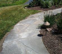 cedar lake sidewalk restoration, concrete masonry, landscape, patio, After
