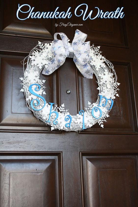 how to make a chanukah shalom wreath, crafts, seasonal holiday decor, wreaths