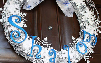 how to make a chanukah shalom wreath, crafts, seasonal holiday decor, wreaths