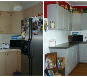 This Is The Before U0026 After On One Side Of My Kitchen. I Textured The