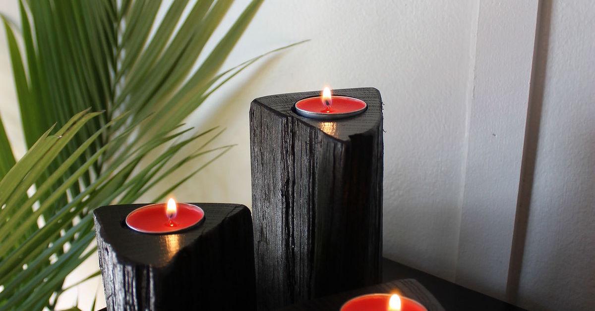 Ideal Firewood Pillar Candle Holders | Hometalk DQ12