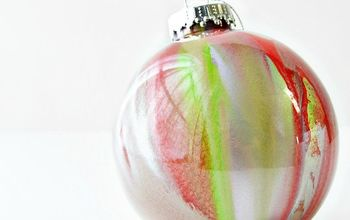 how to make a blown glass inspired spray paint ornament, christmas decorations, crafts, seasonal holiday decor