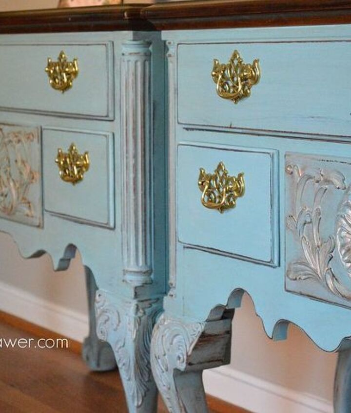 painting a pair of french henredon tables, painted furniture