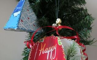 christmas ornaments made from recycled greeting cards, christmas decorations, crafts, seasonal holiday decor