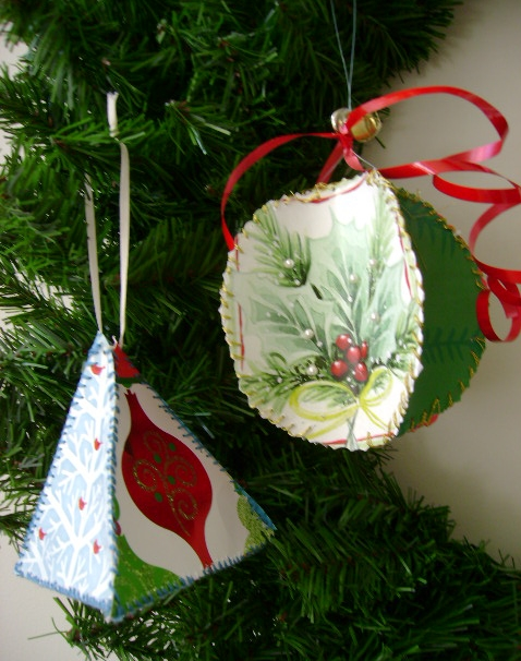 How To Make Christmas Ornaments Made From Recycled ...