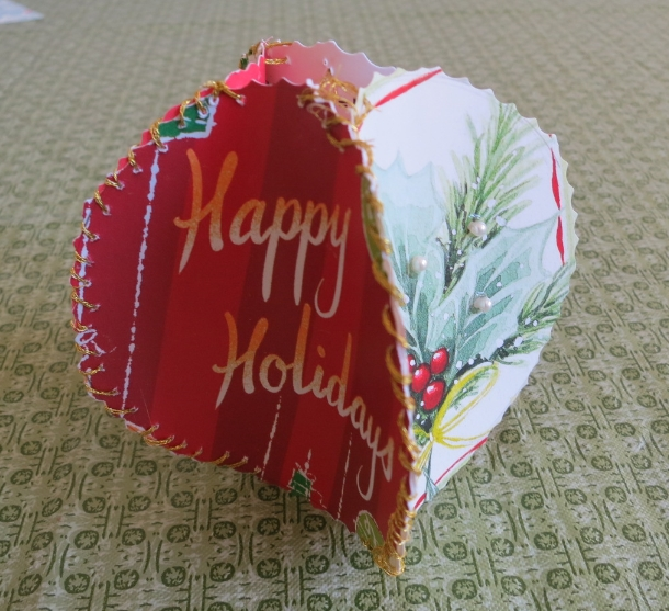 How to make christmas ornaments made from recycled greeting cards christmas ornaments made from recycled greeting cards christmas decorations crafts seasonal holiday decor m4hsunfo