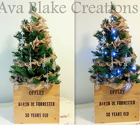 How to make wine crate ice bucket christmas trees hometalk