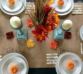 How To Make A Kraft Paper Table Runner, Seasonal Holiday Decor,  Thanksgiving Decorations