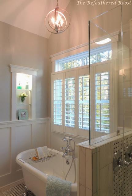 Master Bath Remodel Idea | Hometalk on bathroom designs corner bath tubs, bathroom renovations with claw tubs, bathroom alcove tub, small bathrooms with claw tubs, gardens with claw tubs,
