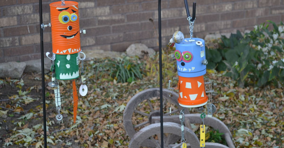 how to make halloween windchimes hometalk
