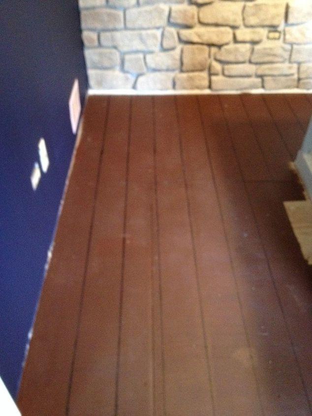 Painted Faux Hardwoods Onto Underlayment Hometalk