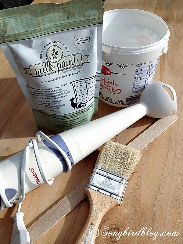 farmhouse table makeover with milk paint, painted furniture, painting