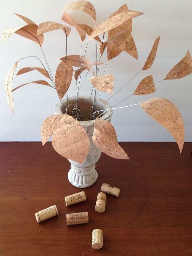 cork ribbon flowers, crafts, how to