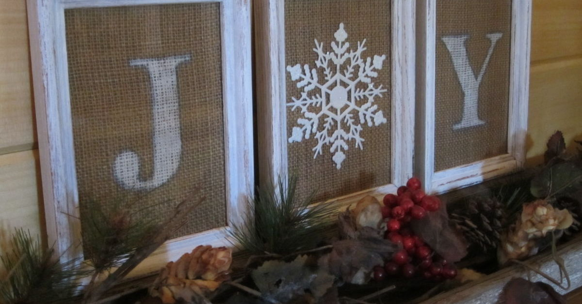 how to make a burlap and a dollar tree ornament joy sign hometalk