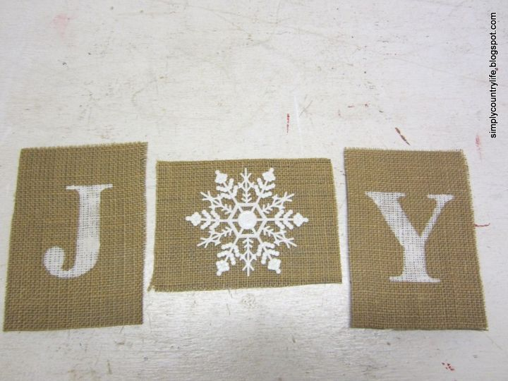 How To Make A Burlap Joy Sign Using Dollar Store Ornament Christmas Decorations Crafts
