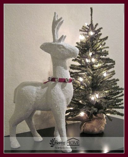 Michaels Gold Paper Mache Reindeer Transformed Christmas Decorations Crafts Decoupage Seasonal Holiday