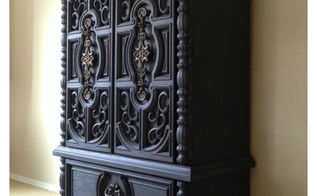 armoire makeover using paint, chalk paint, painted furniture