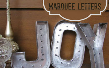 Christmas JOY- DIY Metal Salvage Marquee Letters- in Gold & Silver