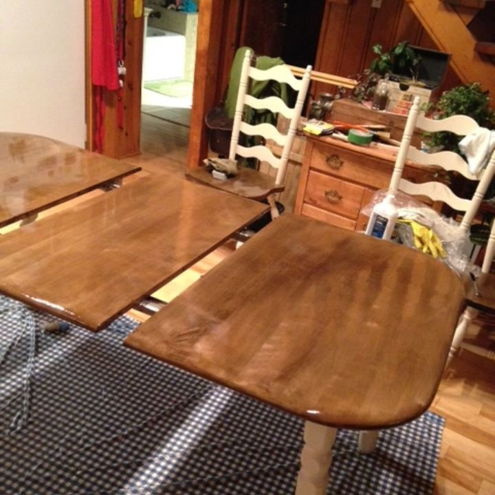 tips for using miniwax polyshades, how to, painted furniture, I m so disappointed with this I can t imagine having to re sand this table For a product that was supposed to save me time it sure has caused a lot of heartache and extra work
