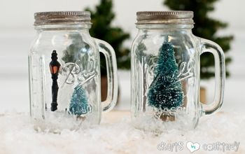Mason Jar Salt and Pepper Shaker Christmas Snowglobes