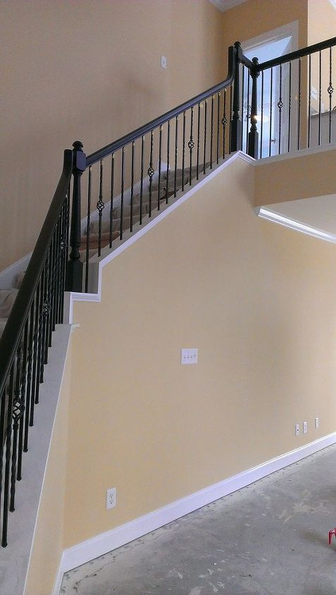 q ideas for decorating high stairwell, stairs, wall decor