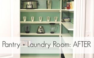 pantry laundry room makeover idea, closet, laundry rooms