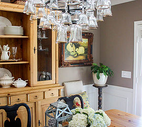 Marvelous How To Mak A Wine Glass Chandelier, Lighting
