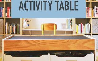 build a train or activity table with easy steps, diy, home decor, painted furniture, woodworking projects