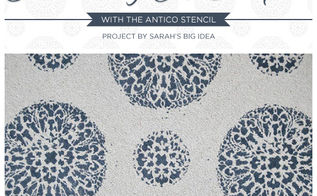 how to painta carpet with the antico stencil, diy, painting, reupholster