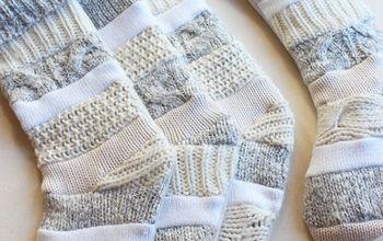 how to make sweater stockings, crafts, repurposing upcycling, seasonal holiday decor