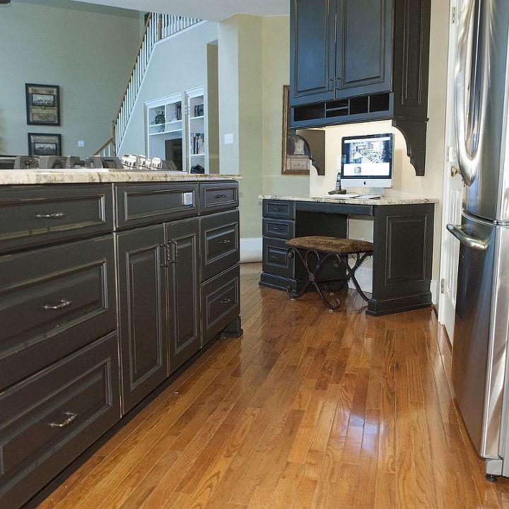 Kitchen Countertops Upgrade: Kitchen Update With Brookhaven Island & Desk